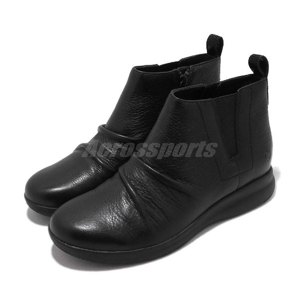 Clarks 休閒鞋 Un Adorn Mid 黑 全黑 真皮鞋面 女鞋 【PUMP306】 CLF36847AB18