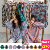 MIUSTAR 超多色!格紋配色親膚混棉麻襯衫(共12色)【NH0017】預購