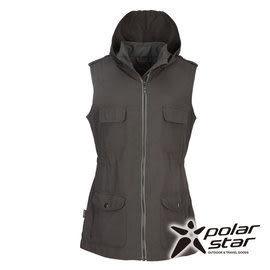 PolarStar 女 多口袋保暖背心『暗灰』P15204
