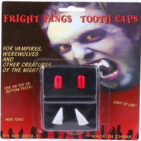 假牙 惡魔尖牙 鬼怪牙齒 殭屍 吸血鬼假牙 假牙血漿 萬聖節/派對/服裝/角色扮演【塔克】