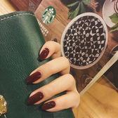 假指甲貼片自然中長款純色可摘可戴少女軟妹美甲成品穿戴手指甲片 七夕節禮物八八折下殺
