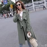 風衣風衣女中長款矮小個子年新款韓版秋季流行英倫風氣質外套大衣 町目家