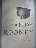 【書寶二手書T9/原文小說_J4G】Sincerely, Andy Rooney_Rooney, Andrew A.