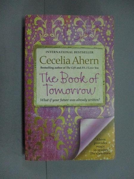 【書寶二手書T9/原文小說_NCV】The Book of Tomorrow_Cecelia Ahern
