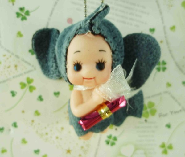 【震撼精品百貨】Q比_Kewpie~鎖圈-大象灰