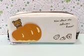 【震撼精品百貨】Rilakkuma San-X 拉拉熊懶懶熊~拉拉熊帆布筆袋-奶油#68384