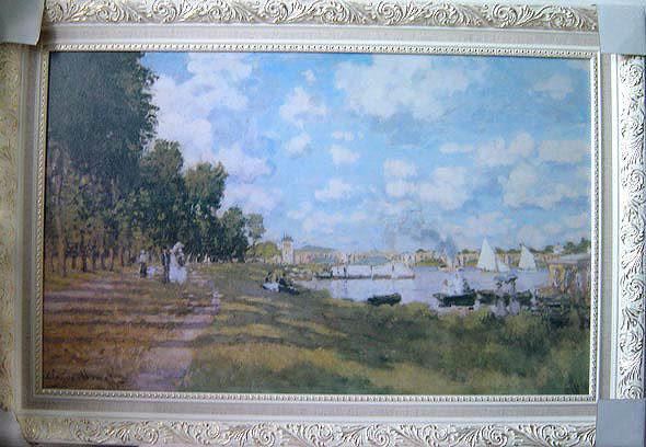 莫內的印象之旅(大)塞納河畔的特伊娃.......98x62cm