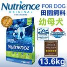 PetLand寵物樂園《Nutrience紐崔斯》田園系列-幼母犬(雞肉+糙米)13.6kg / 狗飼料