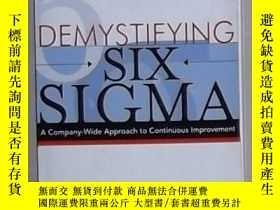 二手書博民逛書店英文原版罕見Demystifying Six Sigma by