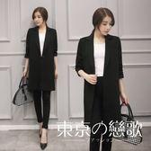 韓國中長款寬松休閒西裝外套高品質