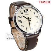TIMEX 天美時 復刻冷光系列 夜光顯示 美式風格數字真皮男錶 防水手錶 學生錶 咖啡 T28201-PJ