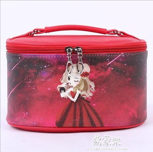 咔犀新款化妝包小號便攜女韓國收納包 水桶包旅行迷你化妝箱  易家樂