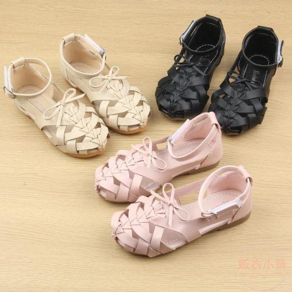 女童涼鞋夏季新款兒童沙灘鞋鏤空包頭寶寶鞋子軟底小公主涼鞋 全館88折