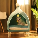 沙發別墅寵物窩夏季新款貓咪帳篷木架窩四季可拆洗愛黨網紅窩貓床 小山好物