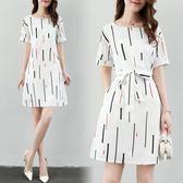 雙11限時優惠-洋裝 夏季新款正韓女裝a字中長款寬鬆短袖T恤裙女顯瘦半袖連身裙