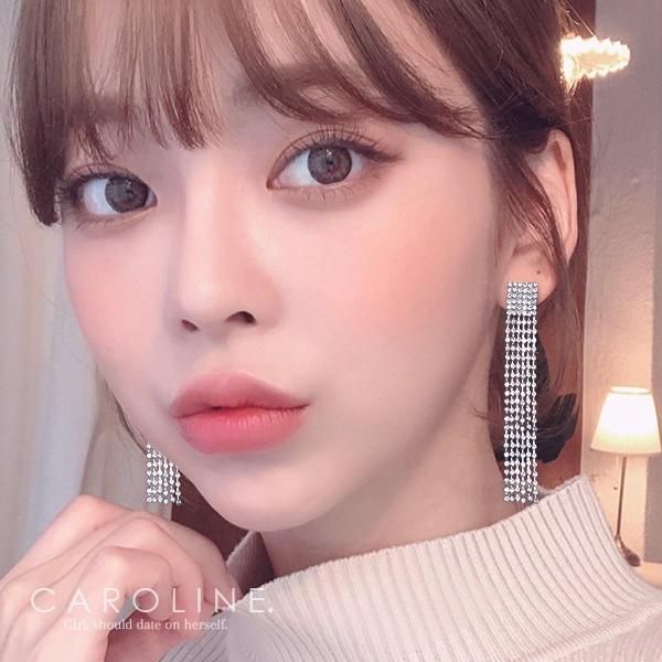《Caroline》★韓國熱賣造型時尚Bling  Bling 絢麗閃亮動人耳環70289
