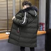 夾克外套-連帽冬季保暖中長版時尚夾棉男外套2色73qa1【時尚巴黎】