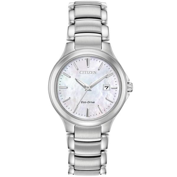 【台南 時代鐘錶 CITIZEN】星辰 Eco-Drive光動能 典雅俐落線條時尚腕錶 EW2520-56Y 銀 30mm