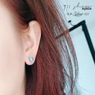 Glows.925純銀人魚眼淚泡沫海水藍珠穿針式耳環【s310】911 SHOP
