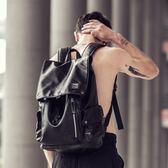 雙肩包男士潮流後背包韓版旅行書包電腦包【南風小舖】