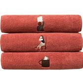 刺繡毛巾純棉情侶洗臉面巾加厚吸水家用擦手巾【雲木雜貨】