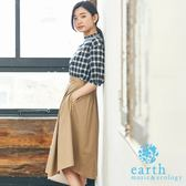 ❖ Autumn ❖ 【SET ITEM】格紋摺邊領上衣+打摺長裙 - earth music&ecology