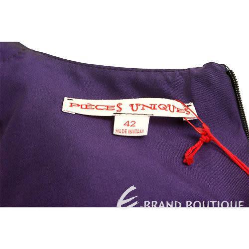 PIEIES UNIQUES紫色抓褶無袖洋裝 0840284-83