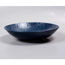 【Luzerne】陸升瓷器 Knit 麻布紋 20cm 深圓盤-藍 /KT1202120