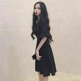 夏裝2019新款大碼仙女微胖妹妹mm洋氣減齡顯瘦遮肚子連衣裙200斤