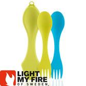 【Light My Fire 瑞典 魔術湯匙盒 湯匙2入萊姆/青藍】LF4144-43/魔術湯匙/環保湯匙/戶外餐具★滿額送
