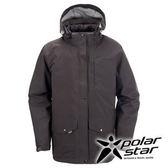 PolarStar 男 兩件式防水羽絨外套 │CNS 90/10羽絨 『炭灰』P15219