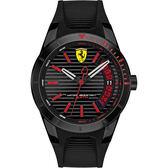 Scuderia Ferrari 法拉利 RedRev 競速手錶-黑/44mm 0830428