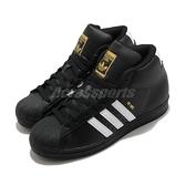 【海外限定】adidas 休閒鞋 Pro Model 黑 白 女鞋 金標 復古 中筒 貝殼頭 運動鞋 【ACS】 FV5723