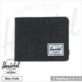 Herschel 皮夾 短夾 可放零錢款短夾 黑色十字線 Roy PL-2090 得意時袋