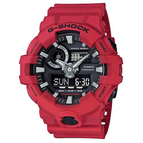 G-SHOCK 創新突破金屬感強悍視覺休閒j腕錶-紅X黑面