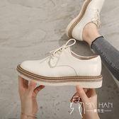 小皮鞋女2018秋季新款韓版百搭英倫風原宿學生平底單鞋