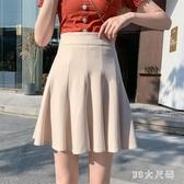 百褶裙學生短裙女2020新款高腰顯瘦小個a字學院風黑色夏季半身裙 FX5920 【MG大尺碼】