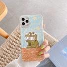 iPhone12 蘋果手機殼 預購 可掛繩 塗鴉鱷魚 矽膠軟殼 i11/iX/i8/i7/SE