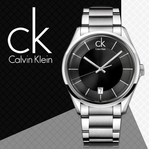 CK手錶專賣店 K2H21104 男錶 石英  黑面 不鏽鋼錶帶 礦物抗磨玻璃 兩邊按壓式蝴蝶扣