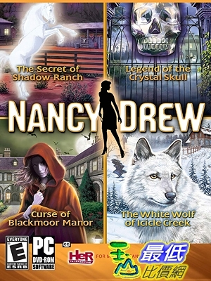 [7美國直購] 2018 amazon 亞馬遜暢銷軟體 Nancy Drew 4 Pack-Secret of Shadow Ranch, Curse of Blackmoor Manor White Wolf