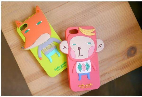 【世明國際】NG出清-i5f1-蘋果IPhone5韓國Romane動物森林家族果凍套保護套手機套立體卡通軟殼