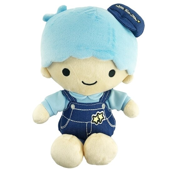 小禮堂 雙子星KIKI 8吋絨毛玩偶 絨毛娃娃 小型玩偶 布偶 (S 牛仔裝) 4901610-17759