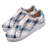 Royal Elastics 休閒鞋 Bishop Checked 白 藍 格紋 無鞋帶設計 橡膠大底 男鞋【PUMP306】 01791085