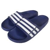 adidas Duramo Slide 藍 白 深藍 休閒 運動 拖鞋 男鞋【PUMP306】 G14309