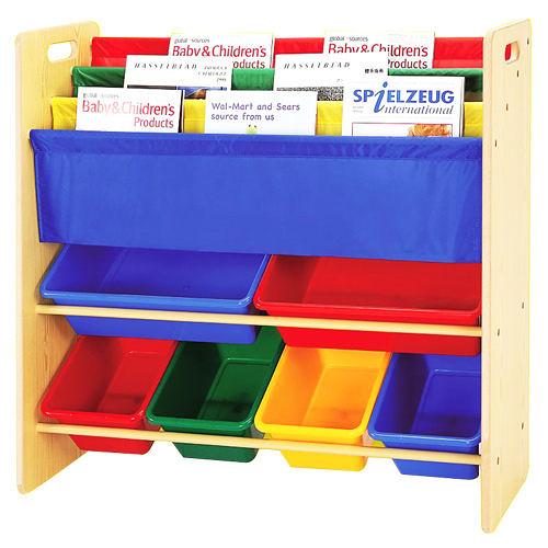 《寶貝家》兒童書報玩具收納架(2大桶 4中桶)(BJ0007)