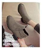 店長推薦 馬丁靴女英倫風裸靴子女短靴春秋2018新款百搭韓版學生切爾西女靴