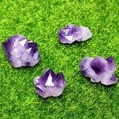 易晶緣水晶天然紫水晶原石擺件骨干水晶紫小尖雙尖標本能量石礦石