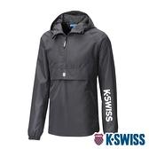 【超取】K-SWISS Semi Zip Open Jacket防風上衣-女-黑
