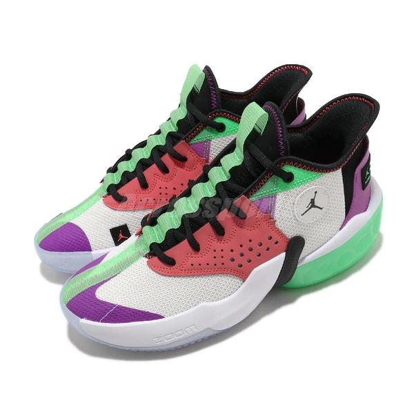 Nike 籃球鞋 Jordan React Elevation PF 白 綠 男鞋 運動鞋 喬丹 D77 【ACS】 CK6617-101