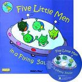 『鬆聽出英語力/廖彩杏書單--第4週』- FIVE LITTLE MEN IN A FLYING SAUCER /繪本+CD  (JY版)